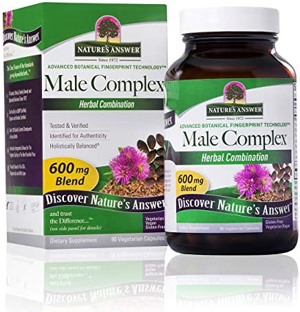 Nature s Answer Male Complex Vegetarian Capsules 90 Count Daily Male Supplement Prostate Support product image