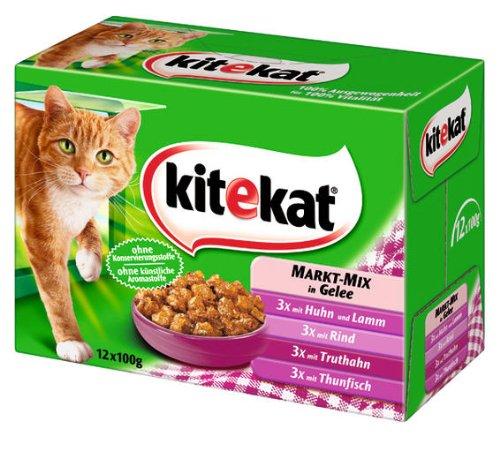 Kitekat Markt-Mix in Gelee 4x(12x100g) - Katzenfutter
