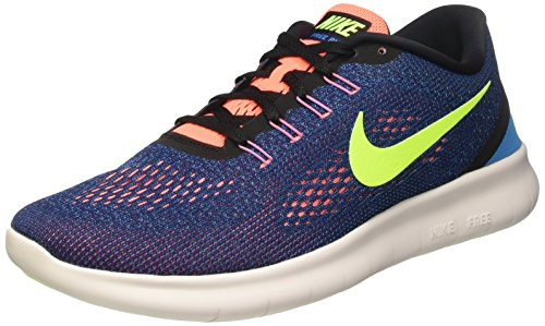 Nike Free RN, Scarpe da Ginnastica Uomo, Viola (Purple Dynasty/Volt Black Bright Mango), 45.5 EU
