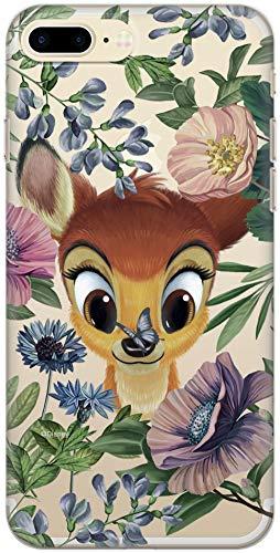 Carcasa Original de Disney Bambi TPU para iPhone 7 Plus, iPhone 8 Plus, Funda de Silicona líquida, Flexible y Delgada, Protectora para Pantalla, a Prueba de Golpes y antiarañazos