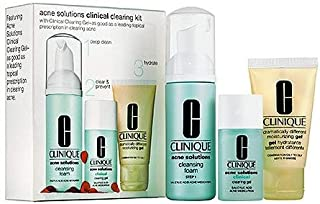 Clinique Acne Solutions Clinical Clearing 3pc Kit: Cleansing Foam + Clearing Gel + Dramatically Different Moisturizing Gel