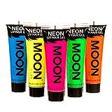Moon Glow - Gel para el Cabello Neón UV - Juego de 5 de 20 ml - ¡Péinate de punta y...