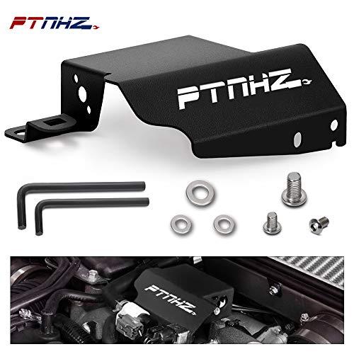PTNHZ Aluminum Boost Control Solenoid Cover Relacement For 08-on Subaru STI WRX Impreza(Black)