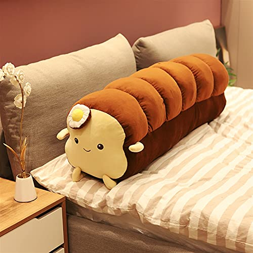 WJCRYPD Simulated Food Stuffed Plush Toast Bread Toy Sofa Decor Loaf Sleeping Cushion Room Decor Girl Gift Cute Plush Doll Qf shop (Color : Long Dark Brown, Height : L)