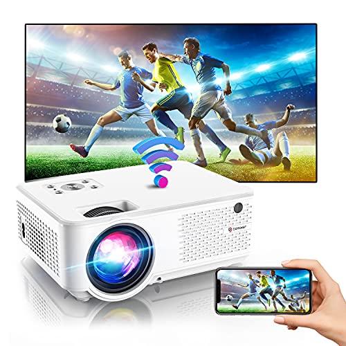 BOMAKER Mini Beamer 4K, 7000 Full HD WiFi Beamer, 1280P Support, mit 300'' Display 90.000 Stunden, kompatibel mit PS4 / TV-Stick/ Smartphone Gaming und Filmen Projektor für draußen/ Heimkino-C9