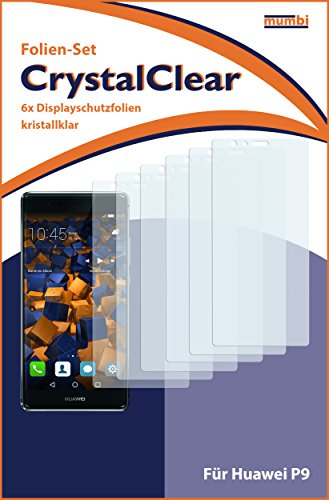 mumbi Schutzfolie kompatibel mit Huawei P9 Folie klar, Displayschutzfolie (6X) - 3