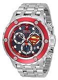 Invicta Men's DC Comics Superman Stainless Steel, Aluminum Swiss Quartz Diving Watch Strap, Steel, 31 (Model: 33815)