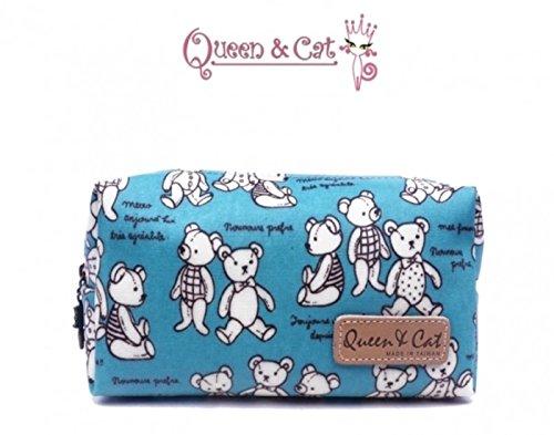 Trousse d'école/Trousse de Toilette imperméable Queen & Cat - Ours B