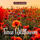 """Texas Wildflowers 2022 Calendar: 12-month Calendar - Square Small Gorgeous Calendar 8.5x8.5"""" for planners with large grid for note"""