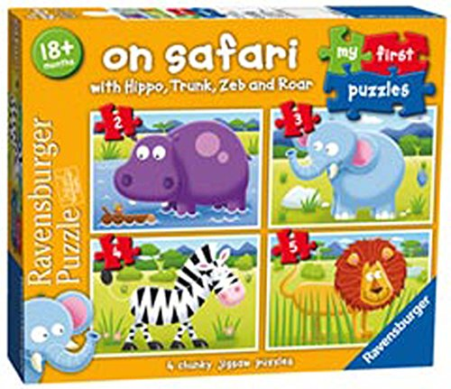 Ravensburger My First Puzzle, on Safari (2, 3, 4 et 5pc)