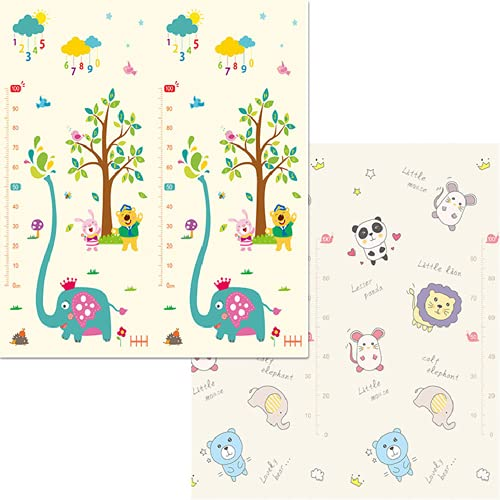 Smile Diary Impermeable Baby Play Mat Kids Puzzle Mat Playmat Mat para niños Rompecabezas Tapete Infantil Mat Rompeczuelos Espuma Play Play Alfombra Plegable Mats(A14,180x200x1CM)