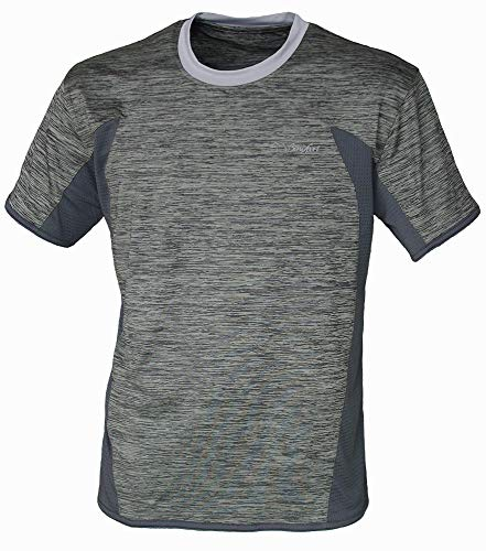 BENISPORT 474/7 T-Shirt Technique Gym, M/C, Unisexe, Adulte, Gris, L