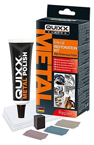 QUIXX Metall Restaurations-Set | Metall Politur | Metall Kratzer entfernen