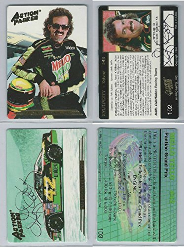 1992 Action Packed Auto Racing Promo, Kyle Petty Lot of 2 Autographs, ZQL