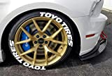 Toyo - Pegatinas permanentes para neumáticos de neumáticos de 1 pulgada para ruedas de 14 a 22 pulgadas (8 unidades)