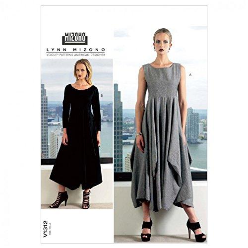 Vogue Lynn Mizono Designer Schnittmuster 1312Damen Kleid Größen: 16–18–20–22–24