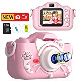 MITMOR Kids Digital Cameras for Girls Boys with 32G SD Card and Dual