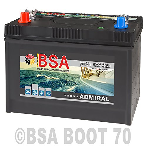 BSA Bootsbatterie 12V 70Ah Batterie Boot Schiff Solar Mover Rangierhilfe Versorgungsbatterie