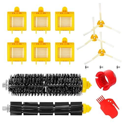 MAXDIRECT Kit de 13 pièces Accessoire Compatible avec iRobot Roomba Série 700 720 750 760 770 780 790 (Brosses, soies, filtres et Brosse)