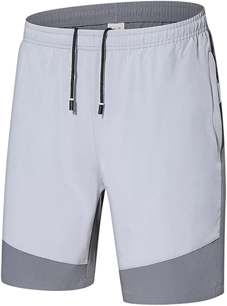 NP Men Summer Color Matching Shorts Casual Loose Color Stretch Men Shorts Movement