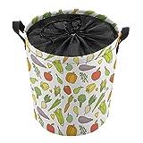 Cesta organizadora ligera para guardar la ropa, cesta de juguetes, cestas de regalo, ropa sucia, dormitorio de los niños, baño, verduras lindas
