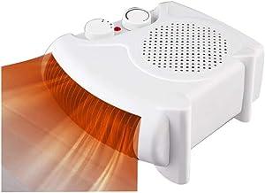 AGLZWY Calentador Radiador Estufa Electrica Termostato Ajustable Calentadores Espaciales Bajo Consumo Posición Horizontal O Vertical para Casa Escritorios Trabajo Oficina (Color : White)