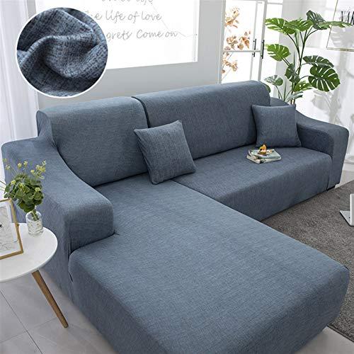 Cubierta de sofá elástica geométrica para la Sala de Estar Cubierta DE Cubierta Cubierta L Sofa Completo Sofa DE Pedido 2 Piezas Cubierta DE Sofa DE Sofa