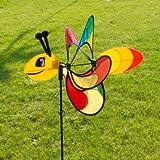CIM Windspiel - Magic Butterfly - UV-beständig und wetterfest - Windrad: Ø38cm, Motiv: 46x18cm, Gesamthöhe: 103cm - inkl. Fiberglasstab und Bodendübel (Butterfly)