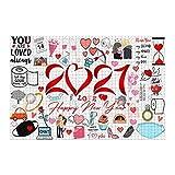 Rompecabezas para adultos 2021 Conmemoración Rompecabezas para adultos Niños 1000 piezas 2021 Eventos Rompecabezas de San Valentín, desarrollo intelectual para festivales con amigos de la familia