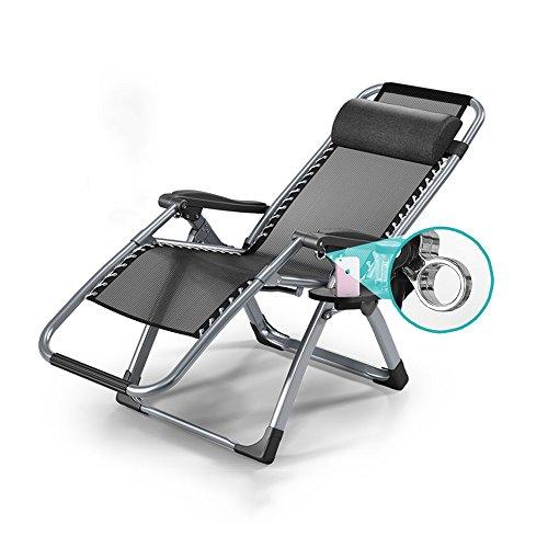 Fauteuils inclinables Feifei Chaise Longue avec Porte-gobelet et Plateau Polyvalent Chaise Pliante réglable Chaise Pliante Unique Pause déjeuner Chaise Longue de Bureau Chaise de Sieste Pliant