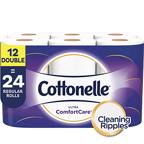 Cottonelle Ultra ComfortCare Toilet Paper, Soft Bath Tissue, 12 Double Rolls