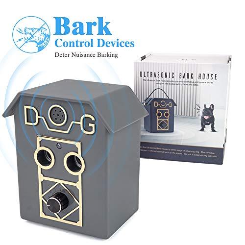 Fusoo Dispositivo de disuasión de ladridos a Prueba de Agua, Collares Seguros Anti inofensivos para Perros. Rango de hasta 50 pies, Collar de Corteza de Perro de Distancia Ajustable.
