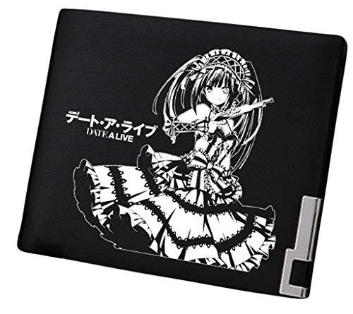 WANHONGYUE Date A LIVE Anime Bifold Brieftasche Kunstleder Schlanke Geldbörse Portemonnaie Kreditkartenhülle /15