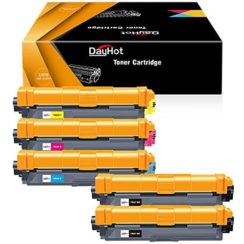 Dayhot TN241 TN245 Kompatible Tonerkartusche für Brother DCP-9020CDW 9022CDW DCP-9015CDW HL-3140CW MFC-9330CDW MFC-9340CDW MFC-9140CDN HL-3150CDW HL-3170CDW(2 Schwarz,1 Cyan,1 Magenta,1 Gelb)