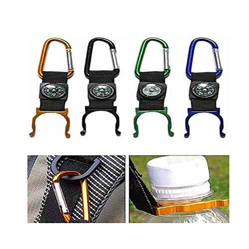 Gogogo-Boussole avec Support de Bouteille,pour Camping randonnée Multifonctionnelle,Couleur aléatoire