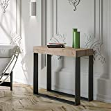 Itamoby - Consola extensible Elettrica Small, roble natural y antracita, 90 x 77 x 40...