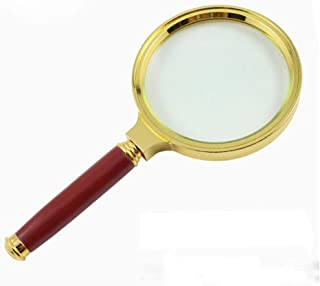 Fan-Ling 90mm Handheld 6X Magnifier Magnifying Glass Loupe Reading Jewelry Aid Big Large,Magnifying Glass Reading Aid Lens,Ideal for Reading Small Prints & Low Vision