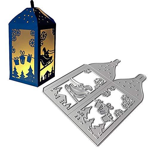 UFLF Weihnachten Stanzschablonen Laterne Stanzen Metall Prägeschablonen Stanzformen Cutting Dies für DIY Scrapbooking Karten Handwerk Geschenk Homedeko