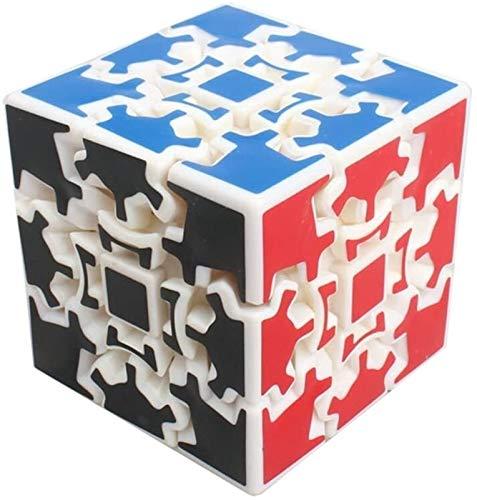 RENFEIYUAN ¡Profesional MA!Creativo 3 x 3 x 3 Equipo de Engranaje Liso Juguete de Regalo Educativo Rubik Cubo (Color : White)