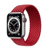 Cinturino Solo Loop Intrecciato Compatibile per Apple Watch 38mm 40mm 42mm 44mm Cinturino di Ricambio in Tessuto Elastico per iWatch Series 6/SE/5/4/3/2/1