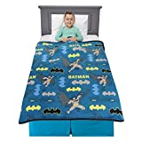 """BATMAN DESIGN: Gotham's greatest hero swings into action on this cool and comfy blanket throw. A """"True Justice"""" animated Batman pattern makes this plush throw a great gift for young fans of the popular Warner Bros/DC Comics hero. SOFT PLUSH & SUPER C..."""