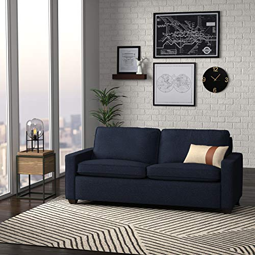 """Amazon Brand – Rivet Andrews Contemporary Sofa Couch with Removable Cushions, 82""""W, Wathet Blue"""