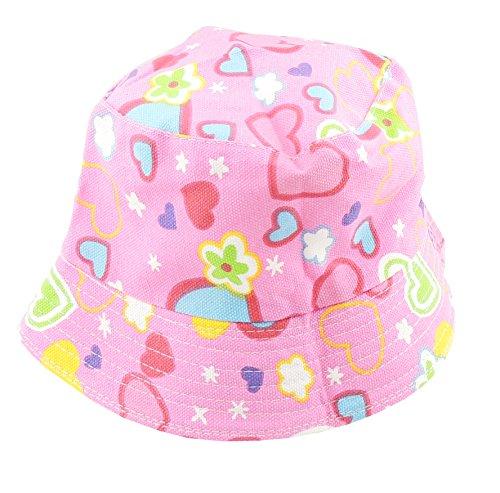 Glamour Girlz Baby Mädchen Jungen Cotton Bush Safari Mütze Baumwolle Sonnenhut 4-6 Jahre (Rosa Hearts)