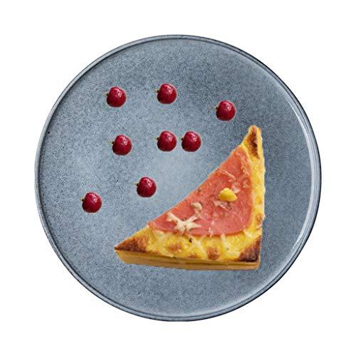 CSQ Pizzaplaten, Sandwich Platen Ham Platen Steak Platen Keramische Platen Ronde Platen Huishoudelijke Platen Creatieve Platen Dim Sum Platen Lichtgewicht
