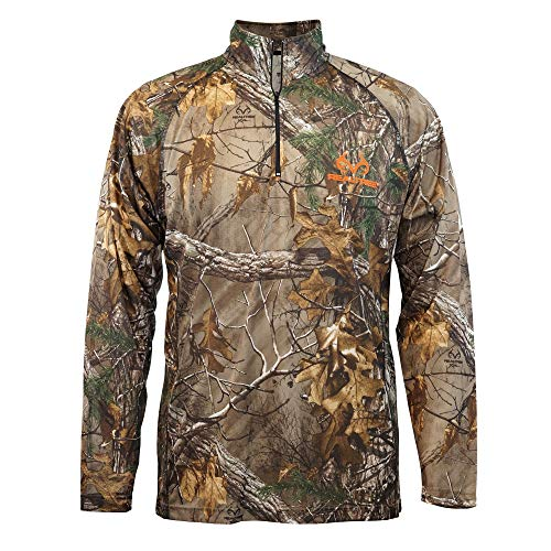 Staghorn Long Sleeve Camo 1/4th Zip, REALTREE XTRA, L
