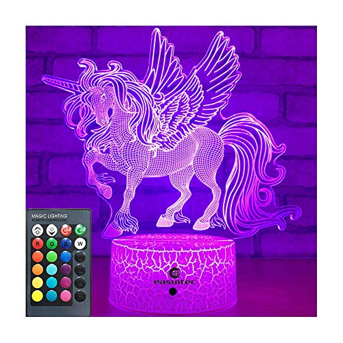 easuntec Unicorn Gifts Night Lights for Kids with Remote & Smart Touch 7...