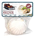 Maine Man Natural Baking Shells, 3.25-Inches, Set of 6