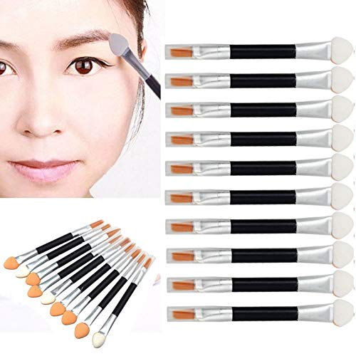 MEIYY Pinceau de maquillage 10Pcs Cosmetic Makeup Brush Double-End Eye Shadow Eyeliner Brush Sponge Applicator Tool Set Kits Professional Kit
