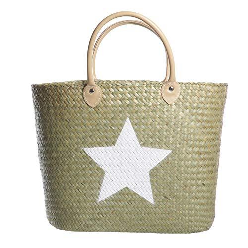 Preis am Stiel Korbtasche ''Sterne''| Strandtasche | Einkaufstasche | Shopper