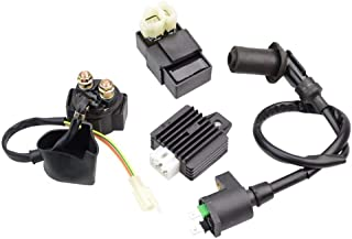 Ninth-city Ignition Coil CDI Solenoid Relay Voltage Regulator for GY6 50cc 125cc 150cc ATV Scooter Moped Motorcycle